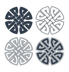 celtic knot ethnic ornament geometric vector image vector image