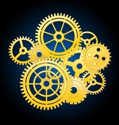 clockwork mechanism vector image