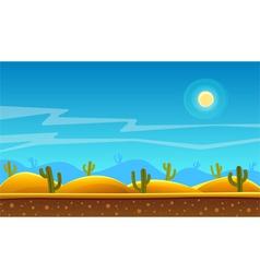 Desert cartoon background vector image