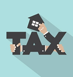 Home Tax Typography Design vector image vector image