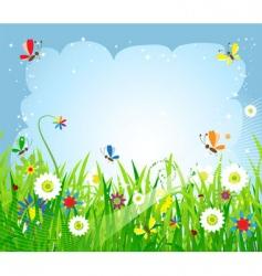 summer meadow beautiful vector image vector image