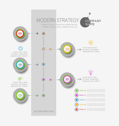 abstract element for business strategy in stages vector image vector image