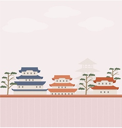 Asian background vector image