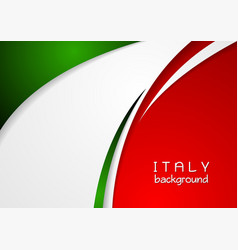 Corporate wavy abstract background Italian colors vector image