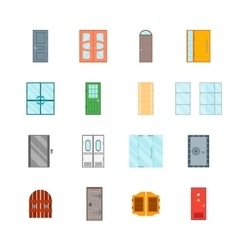 Front Doors Set vector image