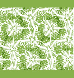greenery taraxacum seamless pattern background vector image vector image
