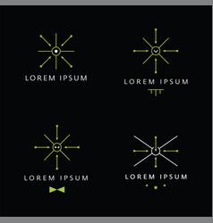modern vintage minimal logo target concept vector image vector image