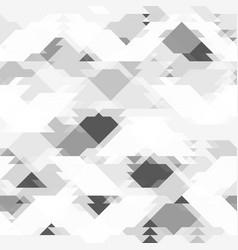 repeating grey pattern with geometric shapes vector image vector image