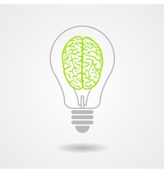 Think green ecological concept vector image