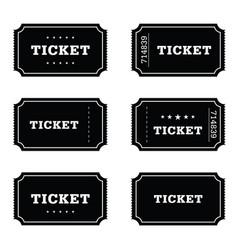 ticket movie set vector image