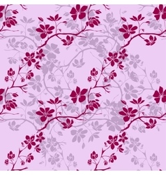 Twig cherry blossoms Seamless vector image