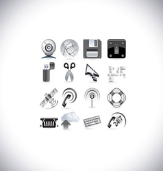 web signal icons vector image vector image
