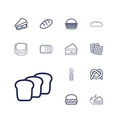 13 bread icons vector image