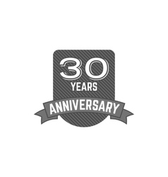 30 years anniversary badge sign and emblem vector image
