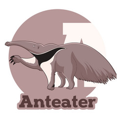 Abc cartoon anteater vector