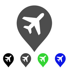 Airplane marker flat icon vector