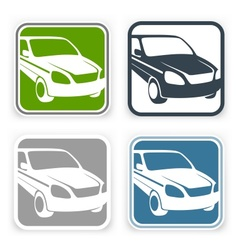 Auto square icons vector image vector image