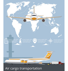 aviation poster set with airplane in airport vector image