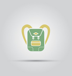 Backpack isolated colored icon vector