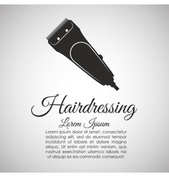 Barber shop hair care concept isolated vector image