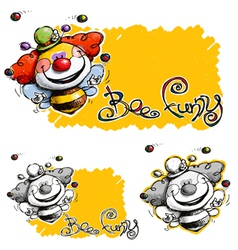 Bee Funny vector image