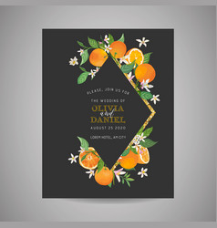 botanical wedding invitation card save date vector image