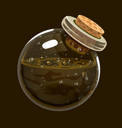 Bottle of mudgame icon of magic elixir interface vector
