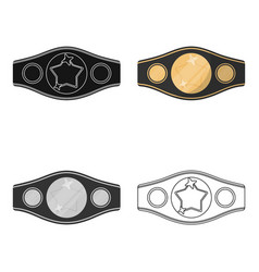 Boxing championship belt icon in combo style vector