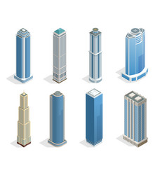 Buildings and modern city houses on 50-70 floors vector