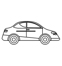 Car sedan vehicle transport outline vector