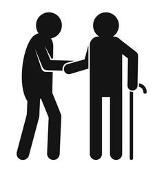 caregiver volunteer icon simple style vector image