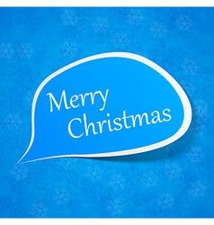 Christmas paper speech label vector image vector image