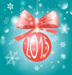 Christmas red ball vector