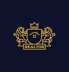 Coat of arms realtor vector