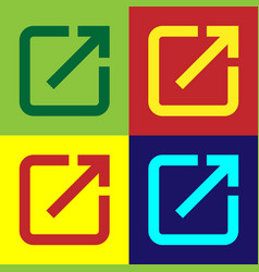 Color open in new window icon isolated on color vector