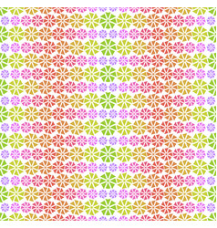 Colorful pattern - abstract flowers vector