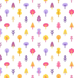 colorful trees in park seamless pattern vector image