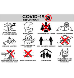 covid19-19 infographic prevention coronavirus aler vector image