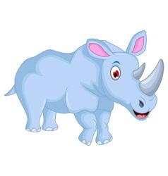 cute rhino cartoon for you design vector image