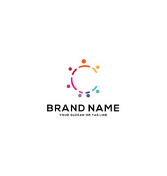 Design community logo people vector