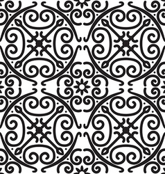 Elegant black and white seamless pattern vector