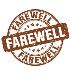 Farewell brown grunge stamp vector