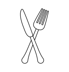 figure knife and fork icon design vector image