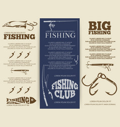 Fishing brochure or banners vector