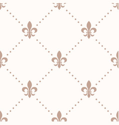 fleur de lis sign and dot seamless pattern vector image