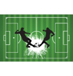 Football or soccer background with silhouettes of vector image