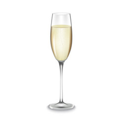 Glass of champagne isolated vector