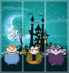 Halloween and background set 1 vector image