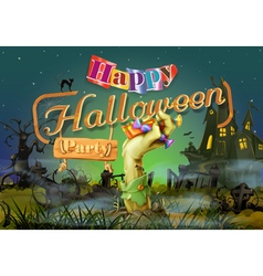 Happy Halloween party zombie background vector