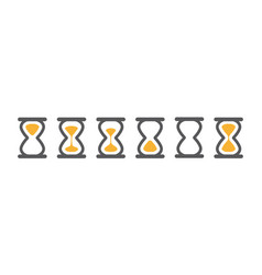 Hourglass various icons for animation frames gray vector
